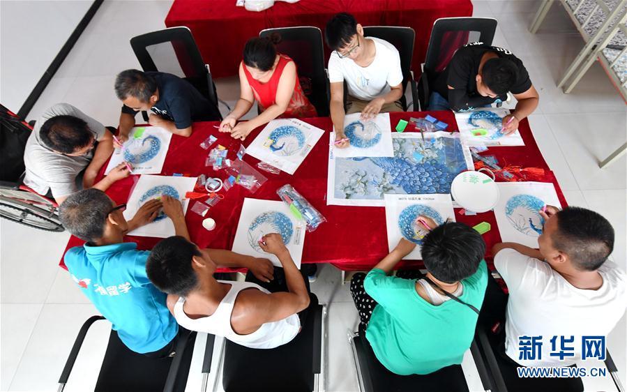 (社会)(3)河北安次:残疾人培训基地助力就业扶贫