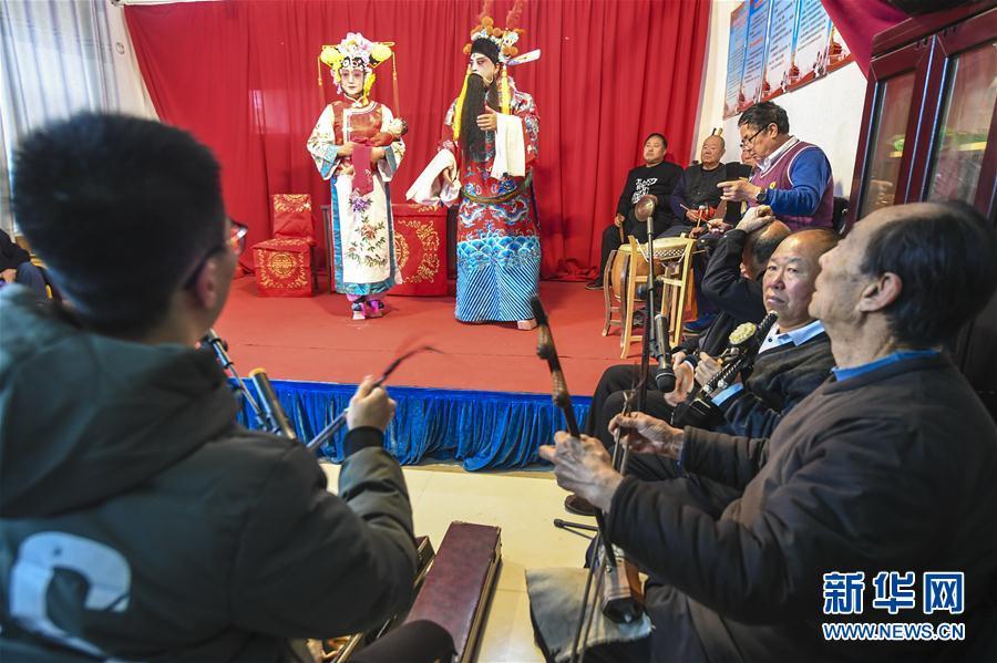 (文化)(1)河北永清:乡村大戏迎新春