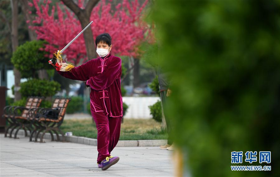 #(社會)(1)河北石家莊:晨練健身忙