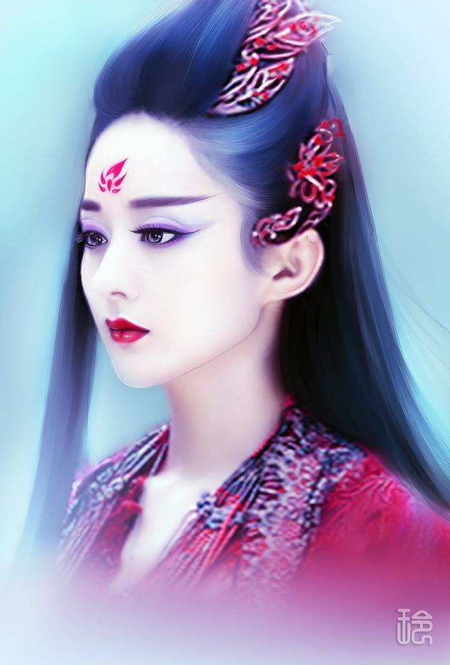 女星手绘超乎你的视觉美 她的颜值竟能直追迪丽热巴