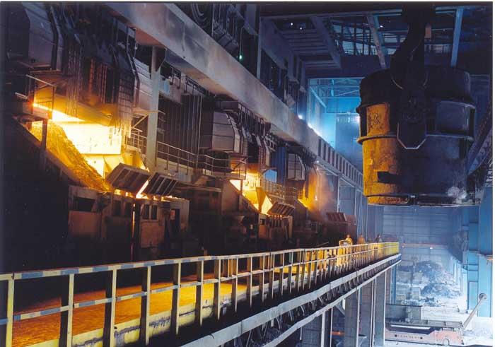 邯鋼百噸轉爐正在生産