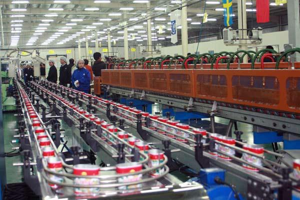 國內首家安全型食品罐生産線