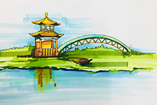 十二虹桥色映天