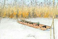 三尺冰床稳胜船