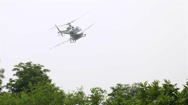 河北邢台开展林木病虫害飞防作业