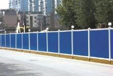 石家庄道路施工建设首次用上喷淋围挡降尘
