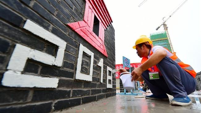 河北廊坊:建筑工人赛技能
