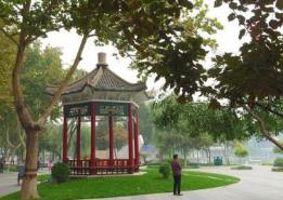 """石家庄裕西公园将现 """"桃花源""""景观"""