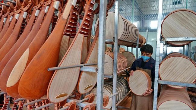 河北肅寧:民族樂器暢銷海內外