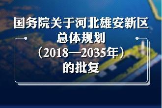 一图读懂国务院关于河北雄安新区总体规划(2018—2035年)的批复