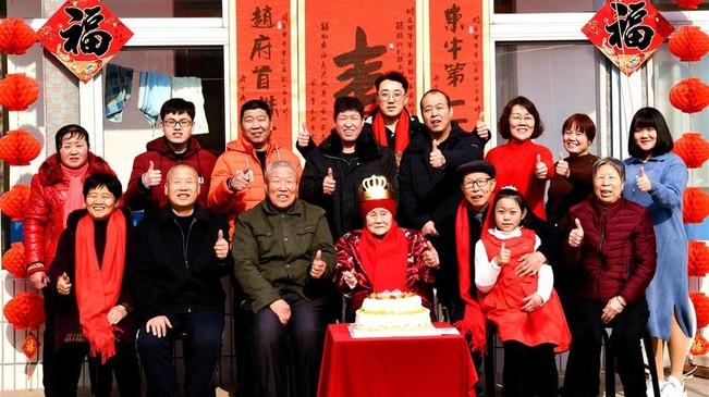 河北石家莊:老人慶生迎新春