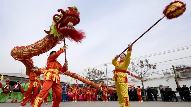"""河北邢臺:傳統民俗歡慶""""二月二"""""""