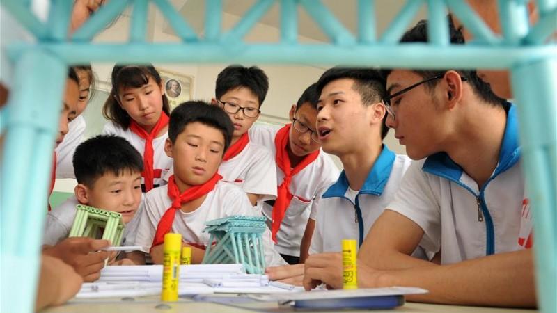 河北海興:留守兒童樂享暑假