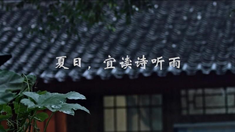 夏日,宜讀詩聽雨