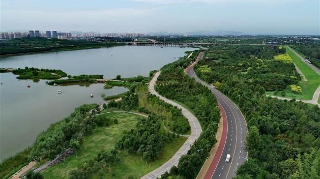 河北石家莊:滹沱河生態治理現美景