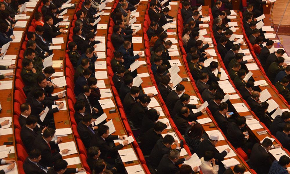 河北省十三屆人大三次會議開幕會現場