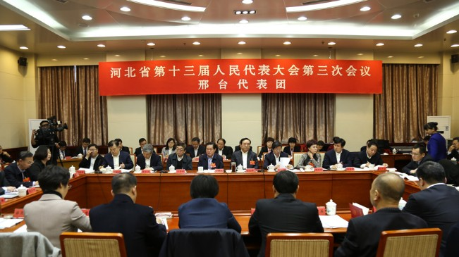河北省人大代表分團審議政府工作報告
