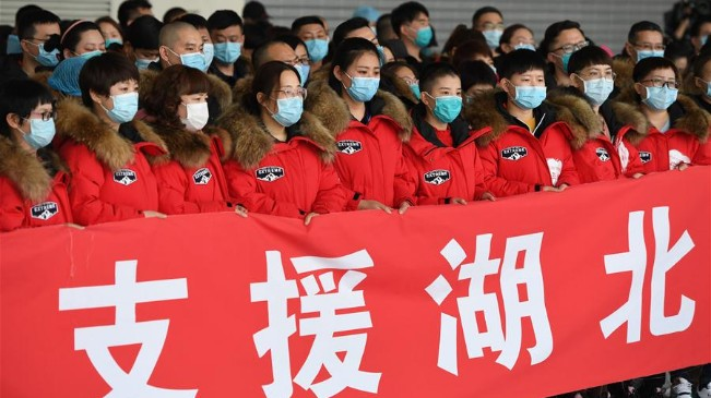 河北省第八批支援湖北醫療隊啟程