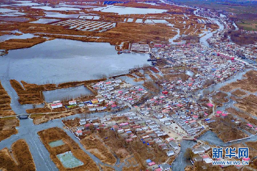 冬季,航拍下的雄安新区安新县东淀头村全景图.新华网 王立鹏摄图片
