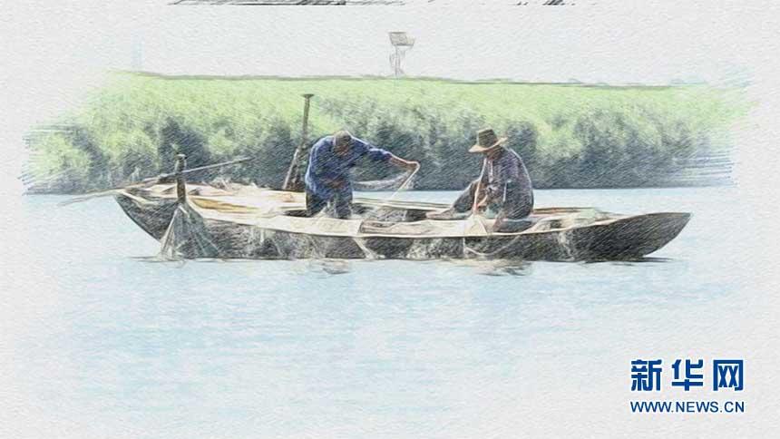 """""""渔民诗人""""李永鸿的作品有着浓浓的白洋淀水乡味儿."""