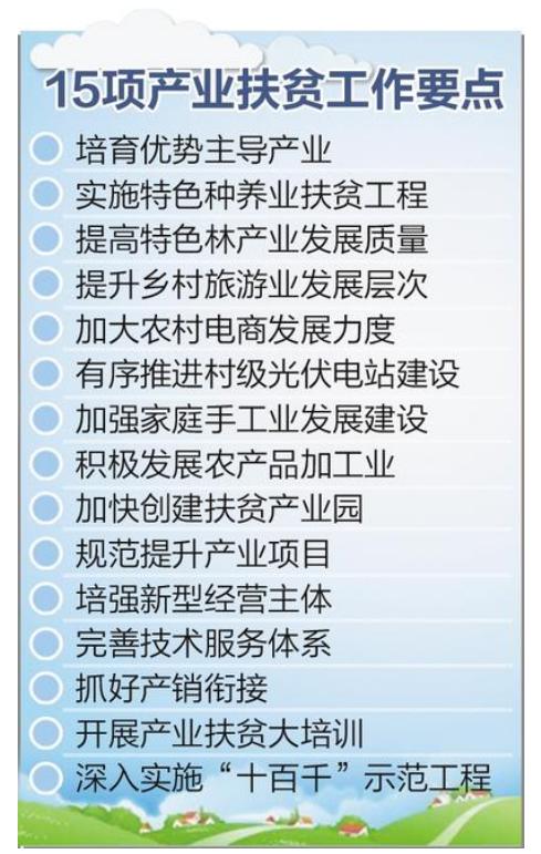 河北:15项产业扶贫措施助力脱贫攻坚