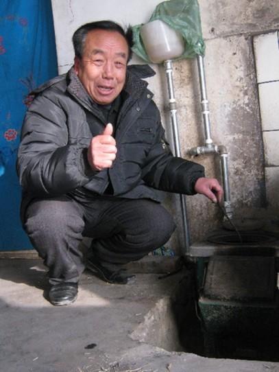 我区农村共有372户安装了节能采暖炉
